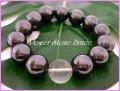 磁気ヘマタイト14mm 天然石ブレス サイズS/M/L