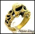 Brassアングリースカルリング