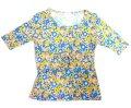 【アウトレット】Starry5分袖花柄カットソーC Mサイズ