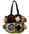 手編みウールハンドバッグ