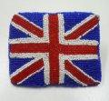 ハンドメイドビーズ コンケース イギリス国旗