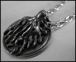 画像1: ドラゴンヘッド メタルネックレス