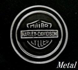 画像1: HARLEYマーク メタルコンチョ 直径 23mm