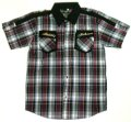 【アウトレット】LITHIUM刺繍ポケット チェック柄 ボタンシャツ Mサイズ