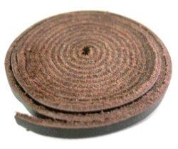 画像1: 牛革 4mm幅 平革紐100cm[こげ茶] レザークラフト材料
