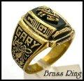 Brassオニキスカレッジリング