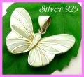 シェルペンダント 蝶ライトグリーン