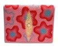 エイ革スティングレイ カードケース花柄