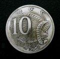 オーストラリア10セントb コインコンチョ 直径23mm