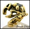 Brassスコーピオンオニキスリング