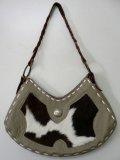 牛革×本ハラコ片面ハンドバッグ