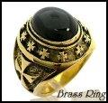 Brassサークルクロスオニキスリング